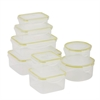 Honey Can Do Snap-Tab 8 Piece Food Storage Set, Clear