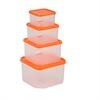 4 Piece Food Storage Container Set, Clear