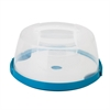 Honey Can Do Round Cake Carrier, Clear White And Blue