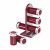 Honey Can Do Zero Gravity Countertop Magnetic Spice Stand, Red/Silver