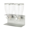 Honey Can Do Commercial Plus Double Canister Dispenser , Silver