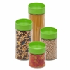 Honey Can Do 4Pc Twist Lid Storage Jar Set