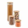 Honey Can Do 4 Pcs Jar Storage Set, Bamboo