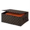 Honey Can Do Hinged Lid Woven Storage Box, Espresso