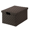 Honey Can Do Large Woven File Box, Espresso