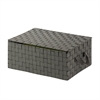 Hinged Lid Woven Storage Box, Salt & Pepper, Black/White