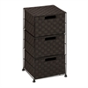 3-Drawer Wheeled Cart, Espresso