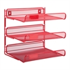 3-Tier Desk Organizer, Red