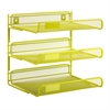 Honey Can Do 3-Tier Desk Organizer, Lime