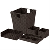 Honey Can Do Woven Desk Org Set - Espresso