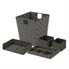 Honey Can Do Woven Desk Org Set - Salt & Pepper