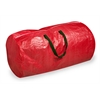 Honey Can Do Tree Storage Bag: Red With Green Handles