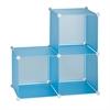 3-Pack Storage Cubes- Blue, Translucent Blue