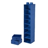 8 Shelf Organizer And 2 Drawers- Blue Polyester