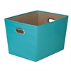 Honey Can Do Large Decorative Storage Bin With Handles, Blue