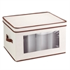 Honey Can Do Natural Canvas Large Window Storage Chest