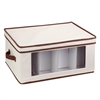 Natural Canvas Tall Window Storage Chest