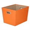 Honey Can Do Large Decorative Storage Bin With Handles, Orange