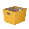 Medium Decorative Storage Bin With Handles, Yellow
