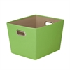 Honey Can Do Medium Decorative Storage Bin With Handles, Green