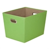 Large Decorative Storage Bin With Handles, Green