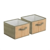 2-Pk Storage Drawers - Bamboo/Moss, Green / Bamboo