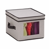 Natural Canvas Small Window Storage Box