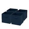 Honey Can Do 4-Pack Non-Woven Foldable Cube- Navy