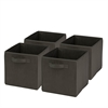 Honey Can Do 4-Pack Non-Woven Foldable Cube- Black