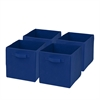 4-Pack Non-Woven Foldable Cube- Blue