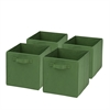 4-Pack Non-Woven Foldable Cube- Green