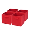 4-Pack Non-Woven Foldable Cube- Red