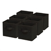 Honey Can Do 6-Pack Mini Non-Woven Foldable Cube- Black