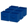 6-Pack Mini Non-Woven Foldable Cube- Blue, Navy