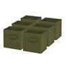 6-Pack Mini Non-Woven Foldable Cube- Green