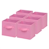 6-Pack Mini Non-Woven Foldable Cube- Pink