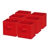Honey Can Do 6-Pack Mini Non-Woven Foldable Cube- Red