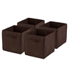 Honey Can Do 4-Pack Non-Woven Foldable Cube- Chocolate