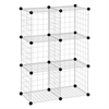 Honey Can Do 6-Pack Modular Mesh Storage Cube, Silver
