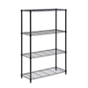 4-Tier Black Shelving Unit - 250 Lbs