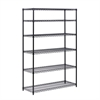 6-Tier Black Steel Shelving- 600 Lbs