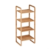 4-Tier Bamboo Accessory Shelf, Natural Bamboo
