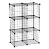 Honey Can Do 6-Pack Modular Mesh Storage Cube, Black, Silver
