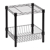 Honey Can Do Urban Steel Black Table W/Basket