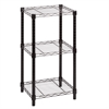 Honey Can Do 3-Tier Black Wire Shelving Tower 14X15x30in