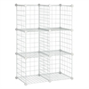 Honey Can Do 6-Pack Modular Mesh Storage Cube, White