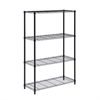 Honey Can Do 4-Tier Shelving Unit, 350Lb Black