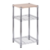 3-Tier Shelving Chrome W Wood
