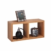 Honey Can Do Bamboo Double Cube Wall Shelf
