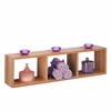 Bamboo Triple Cube Wall Shelf
